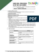 Convocatoria 001 2019 Mdc