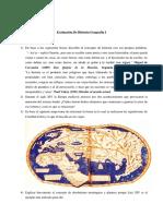 Evaluacion Historia Geografia I Tema I