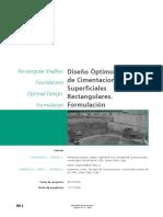 Diseño Óptimo de Cimentaciones Superficiales Rectangulares Formulación.
