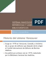 SISTEMA VANCOUVER EN REFERENCIAS BIBLIOGRAFICAS!.ppt