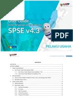 User Guide SPSE v4.3 User Pelaku Usaha Tender 9 Februari 2019