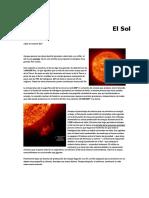 Articulo de Divulgacion Cientifica Sobre El Sol