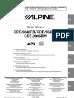 Alpine Cde-9848rb Manual