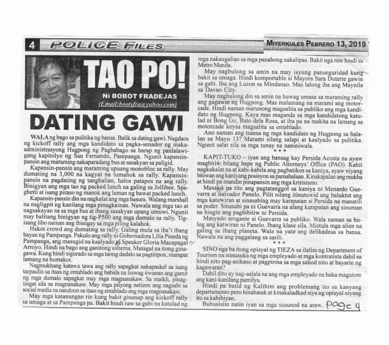 Balik sa Dating Gawi en français