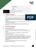 Project Delivery Director Role Description