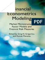 Financial Econometrics Modeling Market Microstructure, Factor Models and Financial Risk Measures