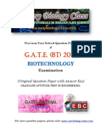 GATE BT 2018 Biotechnology Solved Question Paper