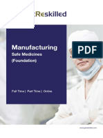 Manufacturing Safe Medicines Foundation Course Brochure Getreskilled