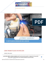 Como Probar Pulsos de Inyección