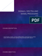 Signals, Spectra and Signal Processing_Lecture Notes