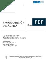 Programacion Saxofon Huelva 2016 17