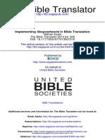 6 Esala - Implementing Skopostheorie in Bible Translation (2013) Copy