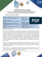 Syllabus Del Curso Diplomado de Profundización CISCO (Diseño e Implementación de Soluciones Integradas (LAN - WAN)