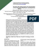 Isolation of clt Genes Encoding milk clotting enzyme and characterization of milk clotting enzyme from new isolate Streptomyces pseudogriseolus NRC-15