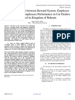 The Relationship between Reward System, Employee Motivation and Employees Performance in Car Dealers  Located in Kingdom of Bahrain