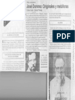 José Donoso Originales y Metáforas