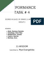 Performance Task # 4 in Stat