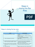 Steps in Closing the Bar Area 2