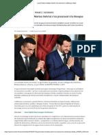 Luigi Di Maio Et Matteo Salvini s'en Prennent à La Banque d'Italie