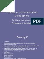 Culture Et Communication d'Entreprise