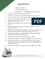Prayer against Abortion & Witchcraft