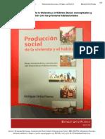 Bases conceptuales y correlación con los procesos habitacionales