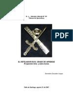 El Retejador en El Grado de Aprendiz (Benedicto González Vargas)