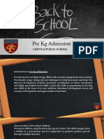 Introduction to Pre Kg Admission