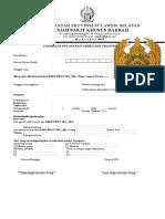 Formulir Pelayanan Ambulans Transport