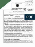 Decreto 198 del 12 de Febrero de 2019