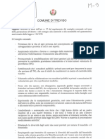 Il testo della mozione in discussione a Treviso