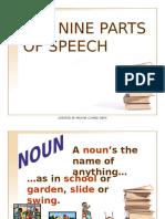 E Nine Parts of Speech 1