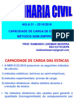 Aula 21-22-10 2018 Estacas Fórmulas Semi Empíricas