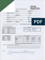 Certificado de calidad de granalla esférica