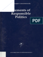 (Contributions to Phenomenology, Vol. 7) Bernard P. Dauenhauer-Elements of Responsible Politics-Kluwer (1991)