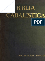 Walter Begley - Biblia Cabalistica or The Cabalistic Bible