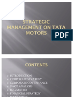 Strategic Management on Tata Motors