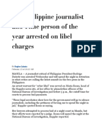 Top Philippine Journalist and Time Person of the Year Arrested on Libel Charges