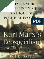 Saito, Karl Marx's Ecosocialism
