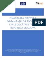 Finantarea Directa a OSC in RM