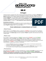SX-9 Manuale Italiano