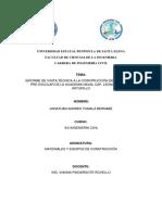 Informe Visita Tecnica Materiales y Equipos de Construcción