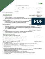 resume for ste