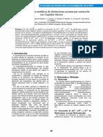 Eliminación de Iones Metálicos de Disoluciones Acuosas Por Extracción Con Líquidos Iónicos