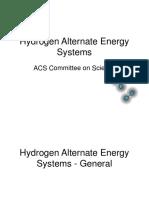 Hydrogen Alternate Energy Systems