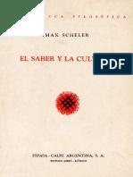 Max Scheler - El saber y la cultura.pdf