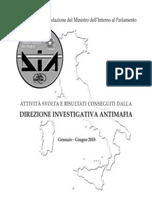 Relazione Semestrale DIA - I Semestre 2018 | Sicilian Mafia