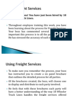 Using Freight Services Brochure Project
