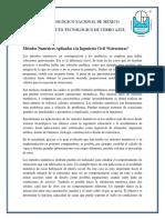 Investigacion Documental Del Uso de Metodos Numericos en Ing