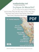 Playas de Mazatlan Guia Mapa Gratis 2019